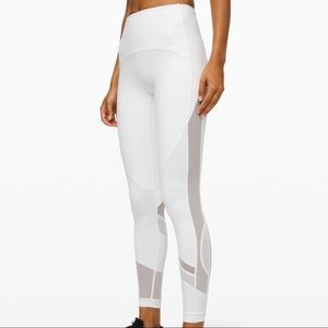 Lululemon Clear The Court HR Tight~ White 28'